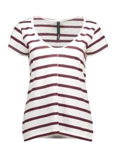 10 Days T-shirt 16WI743S Ecru/Bordeaux