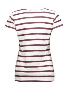 16wi743s 10 days t-shirt ecru/bordeaux
