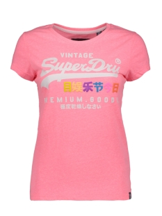 Superdry T-shirt G10016NS Neon Pink Snowy