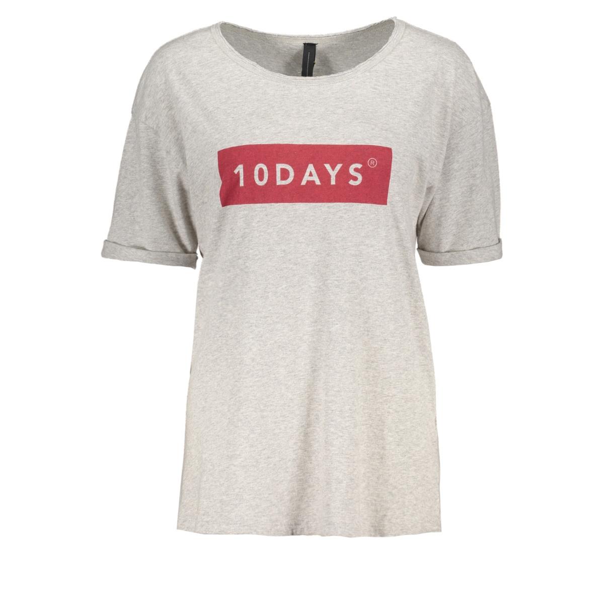 207408104 10 days t-shirt light grey melee