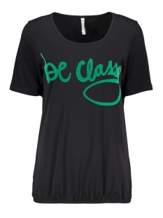 Zoso T-shirt CLASSY T SHIRT WITH FLOCK PRINT BLACK/GREEN