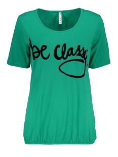 classy t shirt with flock print zoso t-shirt green/black
