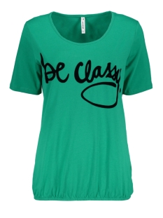 Zoso T-shirt CLASSY T SHIRT WITH FLOCK PRINT GREEN/BLACK