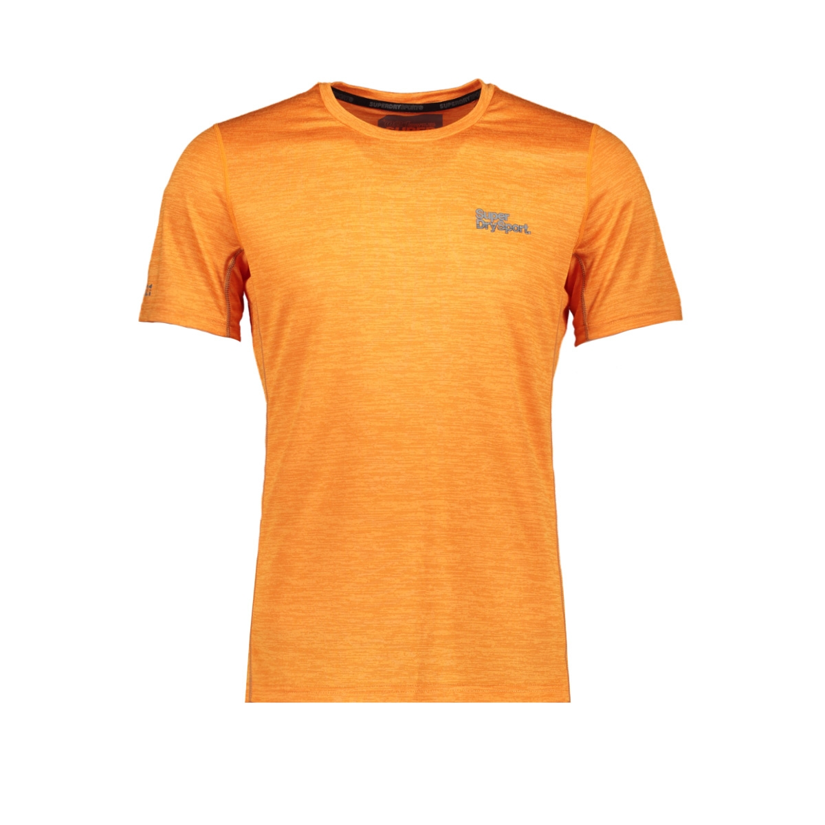 ms3007ar active training s/s tee superdry sport shirt bright orange space dye