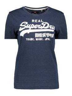 Superdry T-shirt G10350TT VINTAGE LOGO SPARKLE ST ECLIPSE NAVY/SILVER SPARKLE