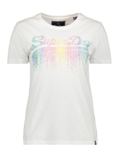 Superdry T-shirt G10124ST LOGO CASCADE ENTRY TEE OPTIC