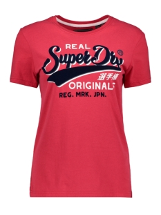 Superdry T-shirt G10134TT ORIGINALS FLOCK ENTRY T NAUTICAL RED