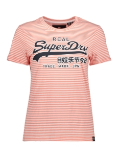 Superdry T-shirt G10657NT OPTIC/ FUSION CORAL STRIPE