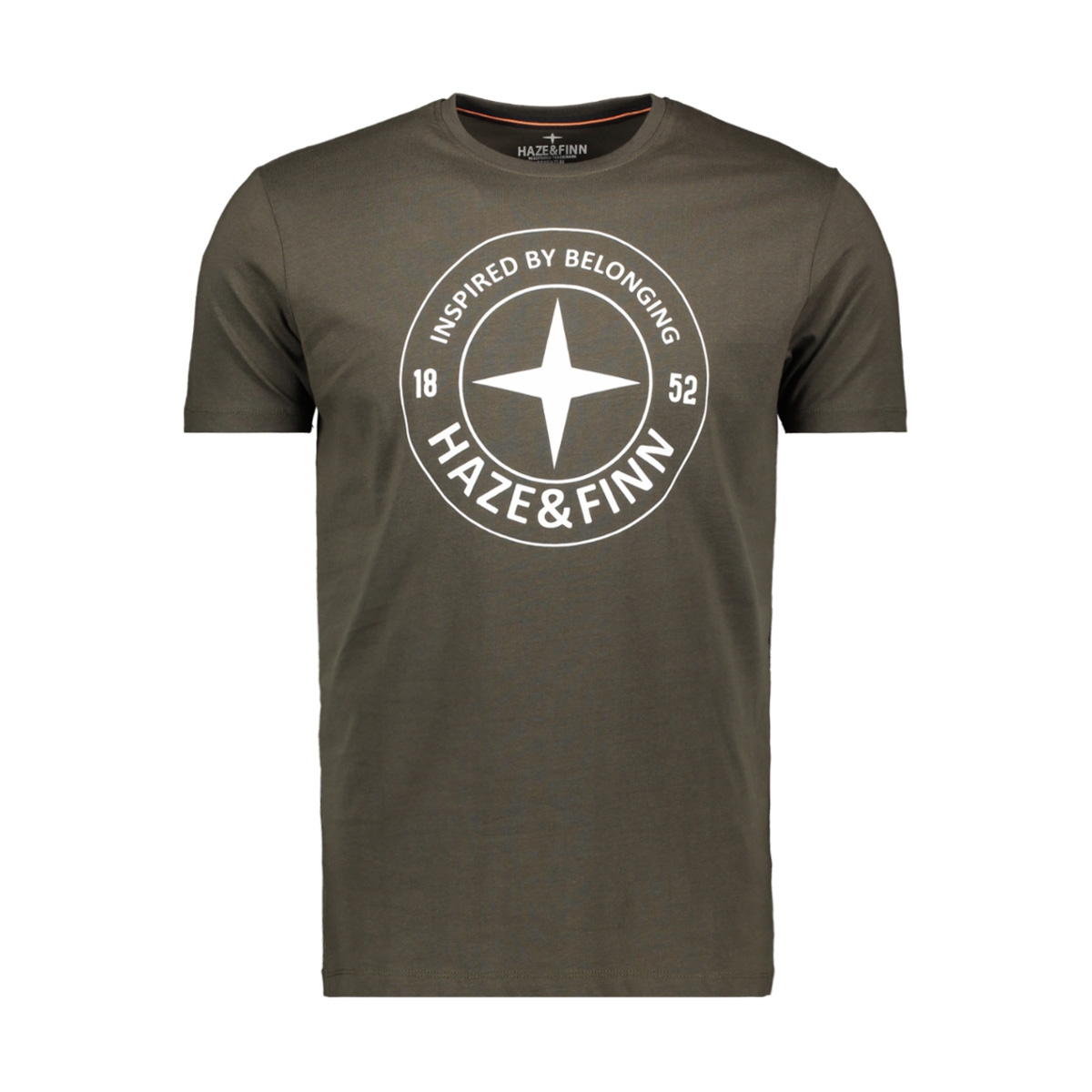 tee logo circle me 0018 haze & finn t-shirt khaki/army green