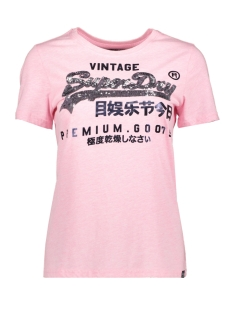 goods sequin entry tee g10108mt superdry t-shirt artisan pink marl