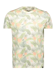 Haze & Finn T-shirt MU11 0002 TEE SUBLIMATION PRINT WHITE JUNGLE