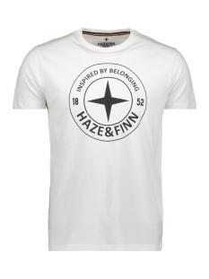 Haze & Finn T-shirt ME 0018 TEE LOGO CIRCLE ARCTIC WHITE
