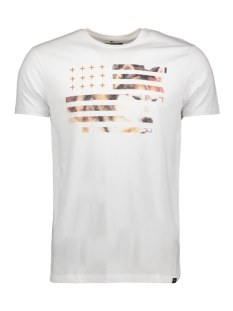 Haze & Finn T-shirt MU11 0012 WHITE/ FLAG  PRINT