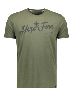Haze & Finn T-shirt MU11 0003 WASHED ARMY GREEN/ NAVY