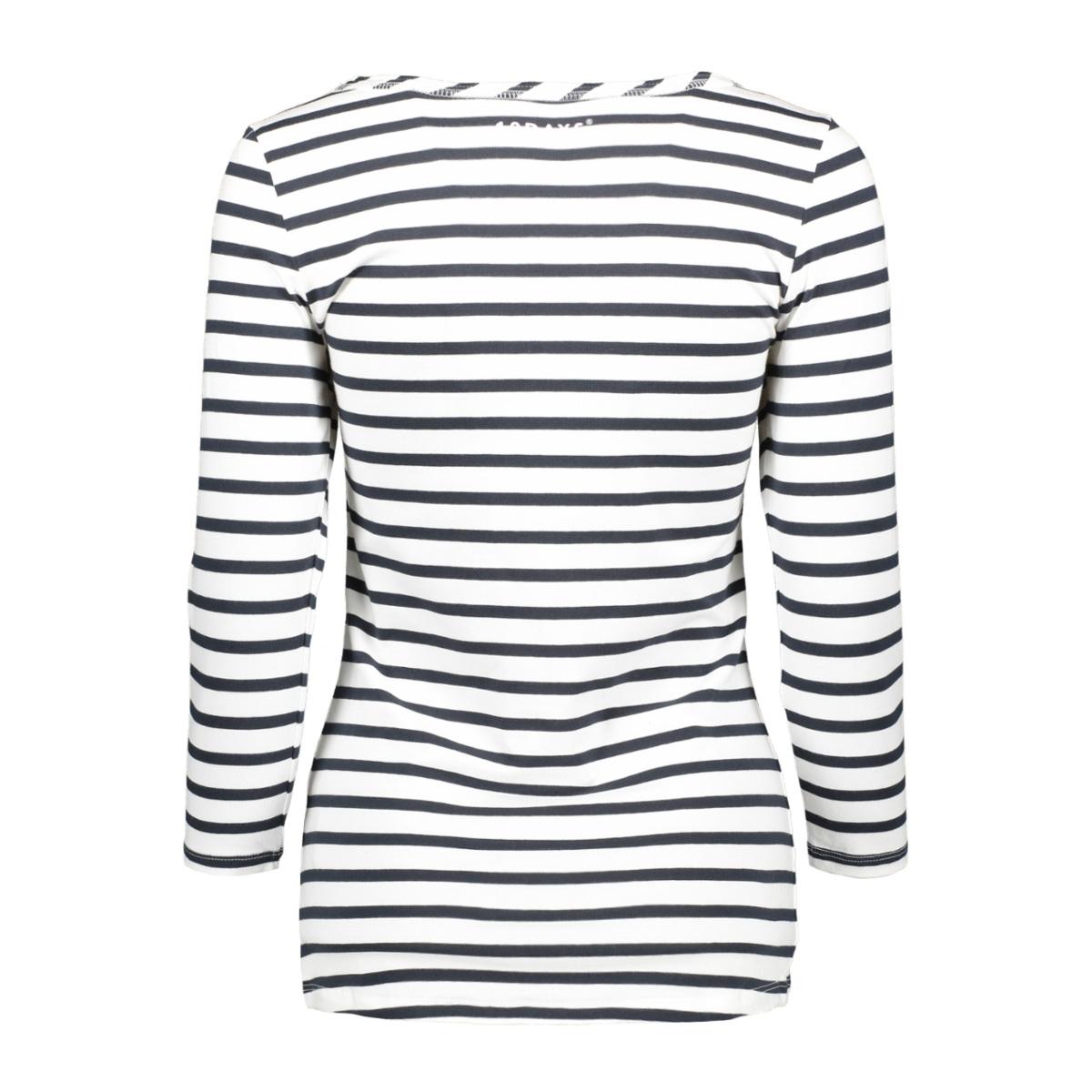20 785 9101 10 days t-shirt dark grey blue-ecru