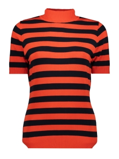 Zoso T-shirt KN1908 ORANGE RED NAVY