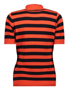 kn1908 knitted top turtle neck zoso t-shirt orange red navy