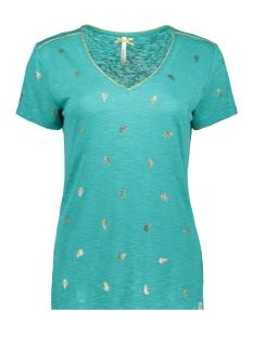 Key Largo T-shirt FEATHER V NECK WT00151 DARK MINT