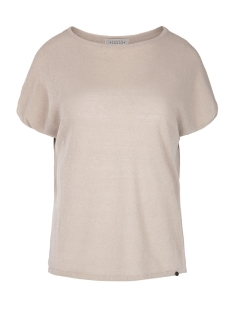 Zusss T-shirt FIJNGEBREID LUCHTIG T-SHIRT 03FT19vBza ZAND