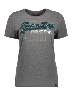 Superdry T-shirt GOODS SEQUIN ENTRY TEE G10108MT CHARCOAL