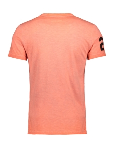 premium goods mid weight aop tee m10109yt superdry t-shirt worn orange