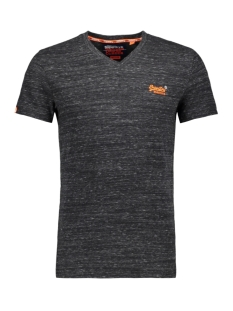 Superdry T-shirt ORANGE LABEL VINTAGE EMBROIDER M10106MT BLACK SHADOW SPACE DYE