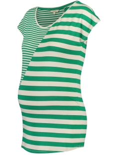 Noppies Positie shirt T SHIRT PEARLE 90313 GOLF GREEN STRIPE
