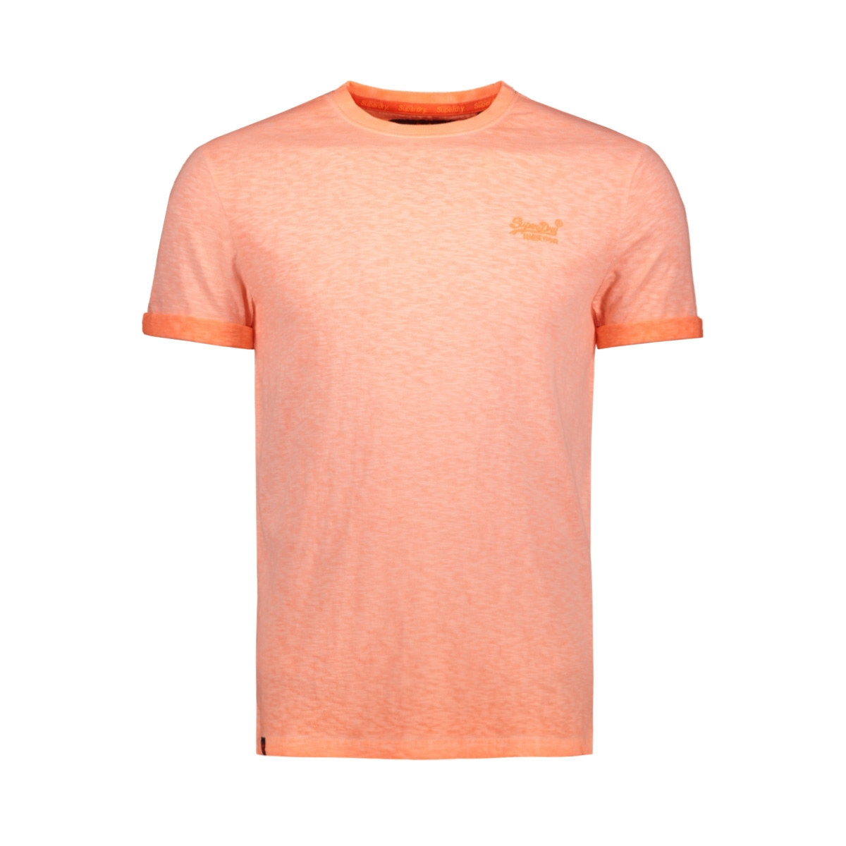 low roller tee m10101rt superdry t-shirt hyper pop orange