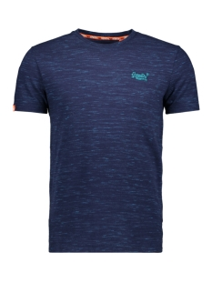 vintage embroidery s/s m10107et superdry t-shirt beach blue space dye