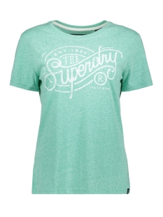 Superdry T-shirt TRADEMARK ENTRY TEE G10104MT SOFT MINT SNOWY