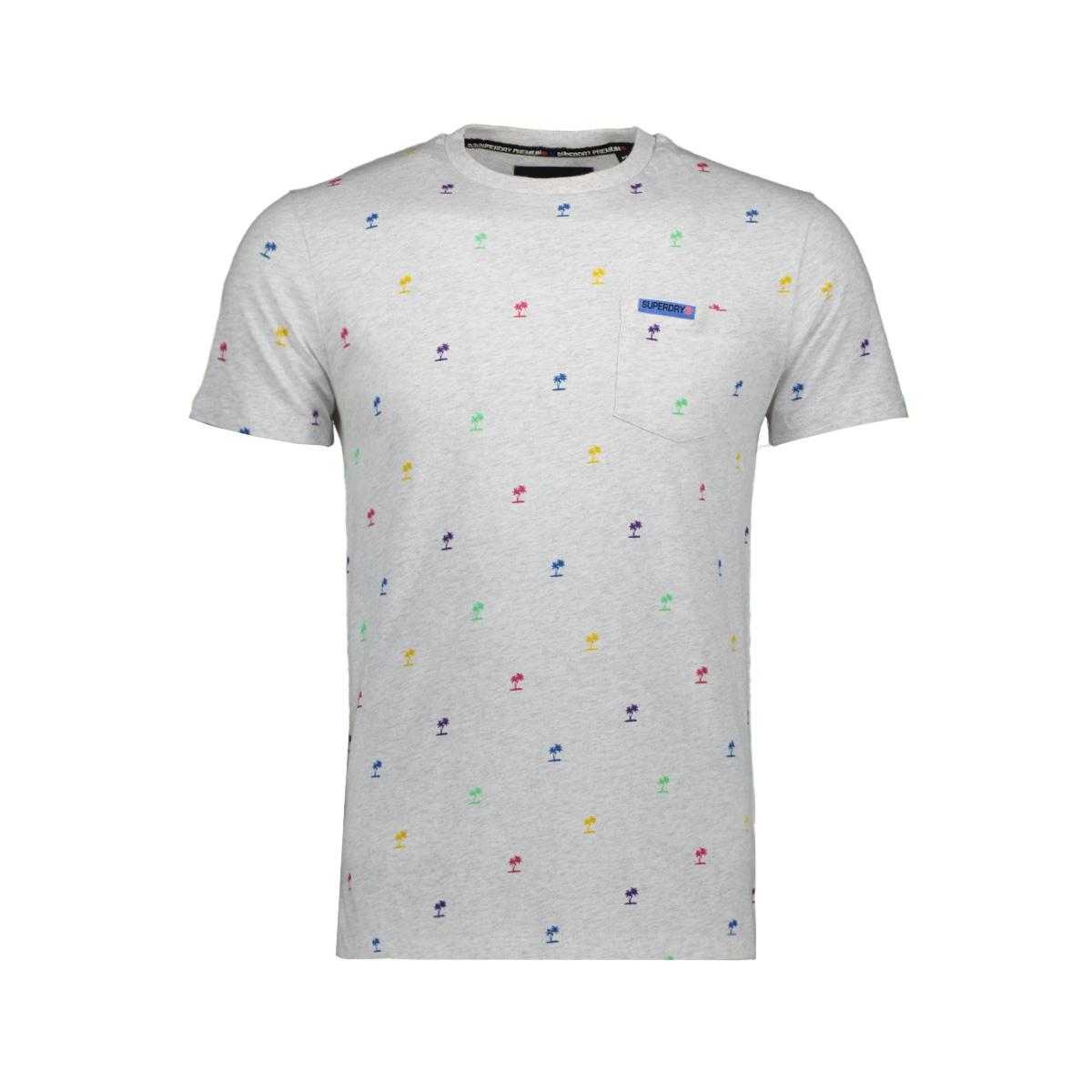 m10101et superdry t-shirt vintage silver marl