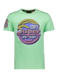 sticker tab tee m10000tq superdry t-shirt bleached ultra mint
