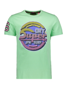 Superdry T-shirt STICKER TAB TEE M10000TQ BLEACHED ULTRA MINT