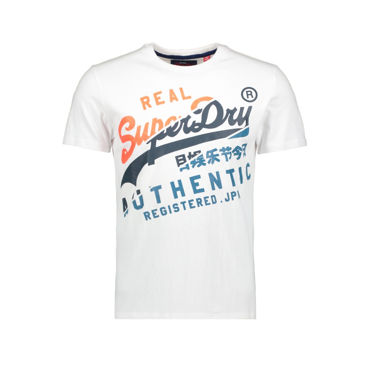 vintage authentic tee m10023aq superdry t-shirt optic