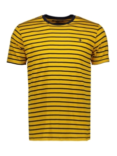 Haze & Finn T-shirt TEE YD STRIPE MU11 001 NAVY BLUE/GOLDEN ROD