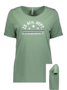 Zoso T-shirt SIERRA T-SHIRT WITH PRINT 192 SAGE/WHITE