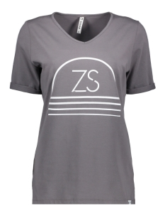 Zoso T-shirt SERENA PRINTED T-SHIRT 192 GREY/WHITE