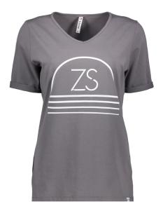 Zoso T-shirt SERENA PRINTED T-SHIRT 192 GREY/WHITE