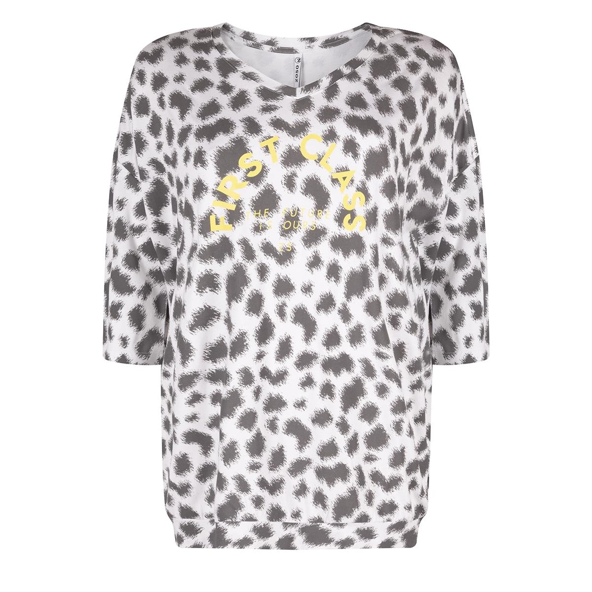 aliya printed t shirt 192 zoso t-shirt grey/yellow