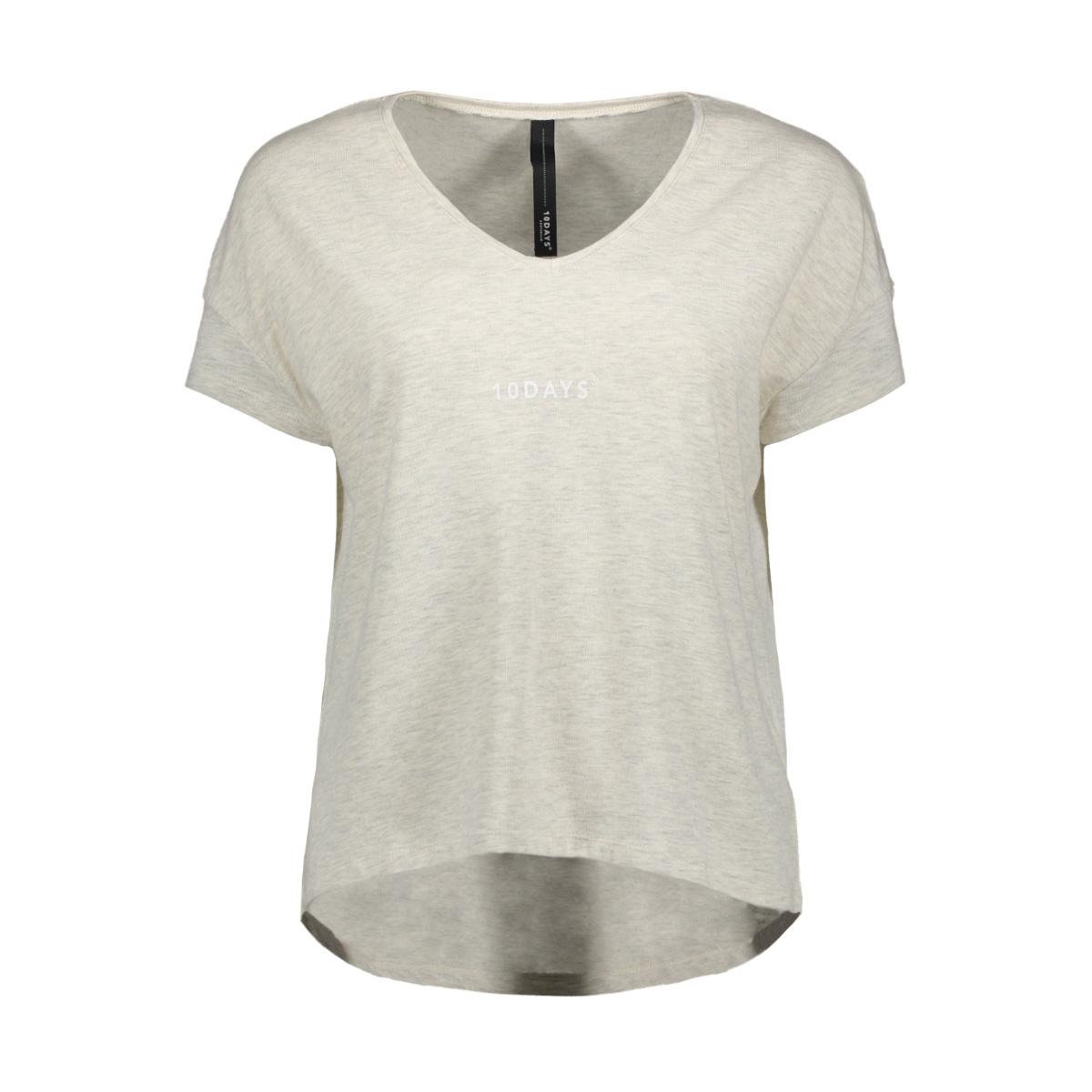 tee 20 744 9102 10 days t-shirt soft white melee