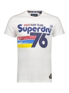 Superdry T-shirt 76 SURF TEE M10100IU OPTIC