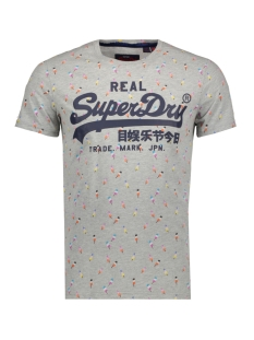 vintage logo aop tee m10261nt superdry t-shirt grey marl
