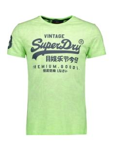 Superdry T-shirt PREMIUM GOODS  MID WEIGHT AOP TEE M10109YT FLURO LIME
