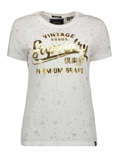 Superdry T-shirt VINTAGE GOODS STAR G10327SU OPTIC BURN OUT