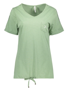 Zoso T-shirt SANNA SHIRT WITH BACKSIDE PR 192 SAGE/WHITE