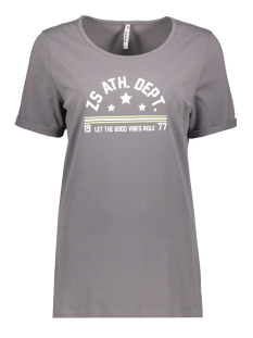 Zoso T-shirt SIERRA T SHIRT WITH PRINT 192 GREY/WHITE