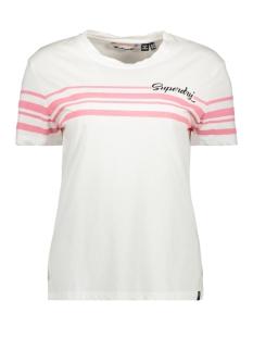 leona graphic tee g60410mu superdry t-shirt bright white