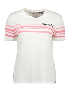 Superdry T-shirt LEONA GRAPHIC TEE G60410MU BRIGHT WHITE