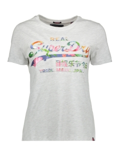 Superdry T-shirt TROPICAL INFILL ENTRY G10323SU ICE MARL
