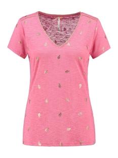 Key Largo T-shirt FEATHER V NECK WT00151 1319 LIGHT PINK